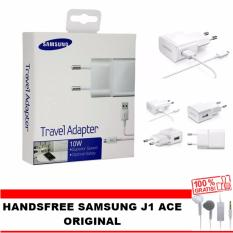 Samsung Travel Charger 10W for Samsung Galaxy S4 / Note 1 / Note 2 / Note 4 - White  FREE Handsfree galaxy young