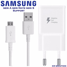 Samsung Type A series Fast Charger 15w kabel Micro USB A5 dan All type lain Support Fast Charge - Kabel Micro USB Putih