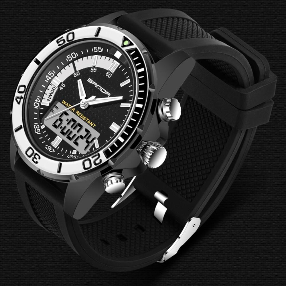 SKMEI Pria Militer Olahraga Watches Fashion Silikon Tahan Air LED Digital Watch Clock