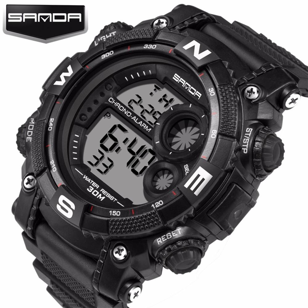 SANDA Terkenal Merek Watch Pria G Gaya Tentara Militer Shock Watches Pria LED Digital-Watch Pria Sport Digital Watch -Intl