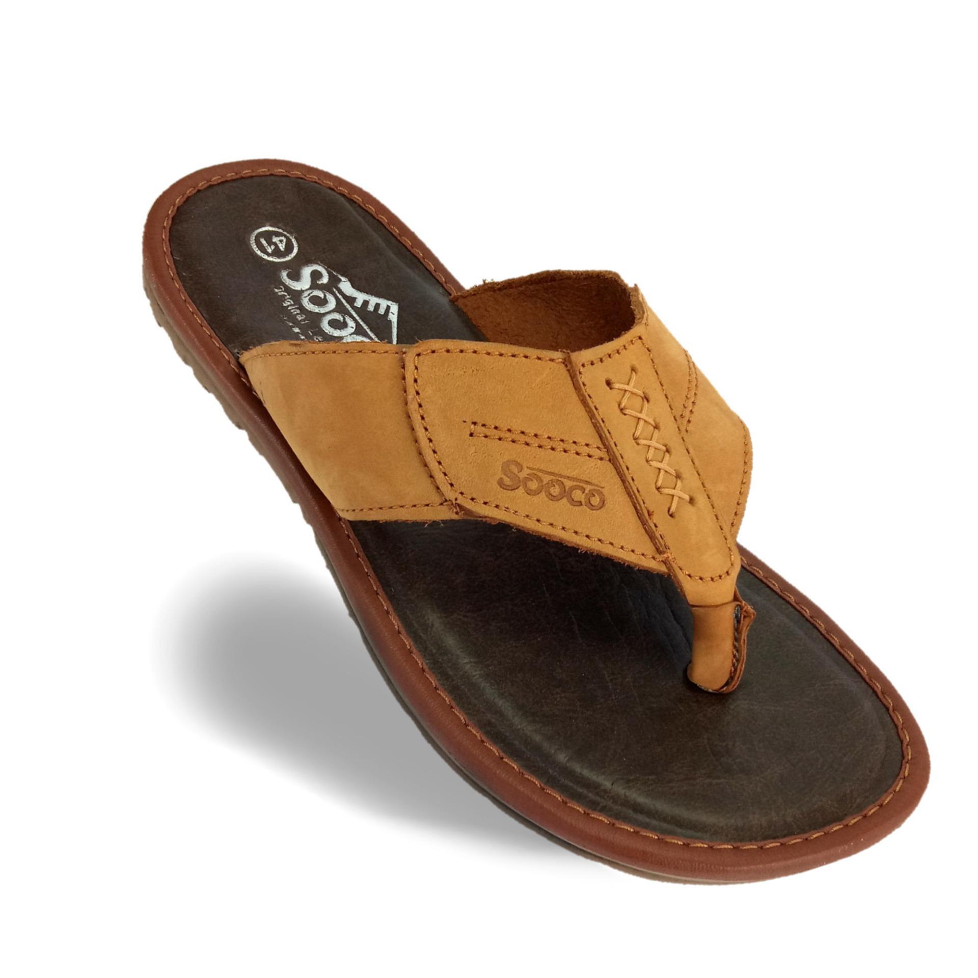 Beli Sandal Pria Kulit Asli Sooco Yang Bagus