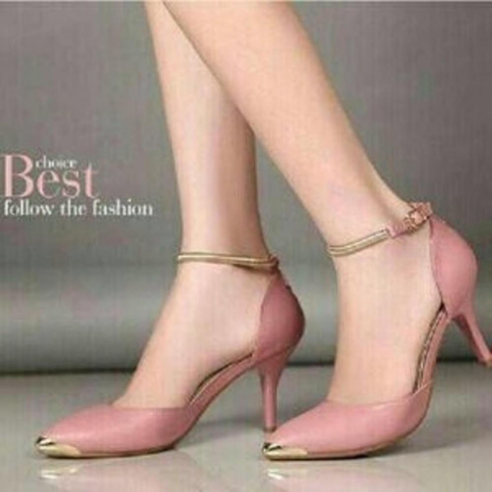 Harga Les Audrey Heel Kitten Szr Pink Salem Murah Sepatu Boot High Heels Ls09 M Sandal Wanita