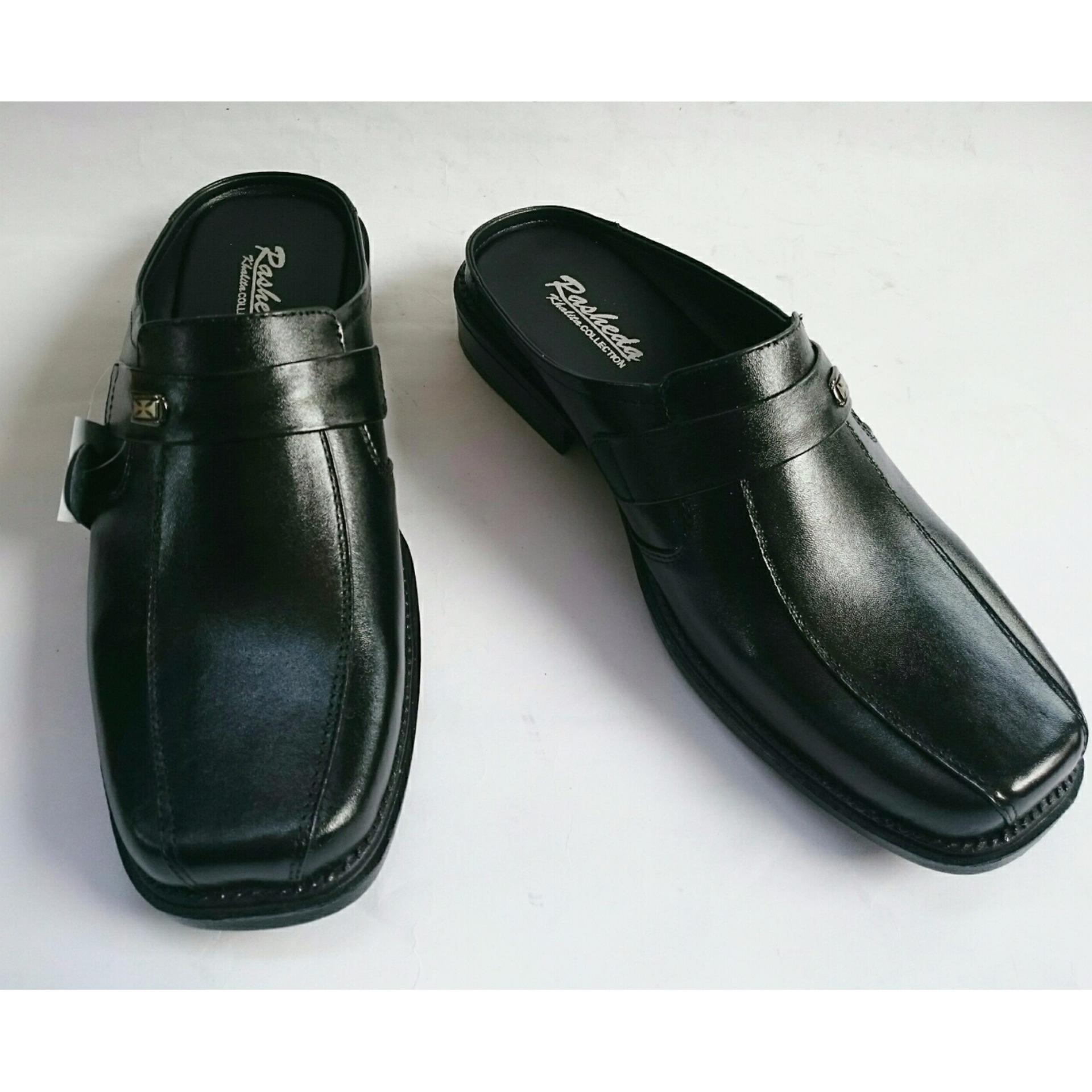 Sandal Sepatu Selop Tutong Pria Kulit Asli VL 02