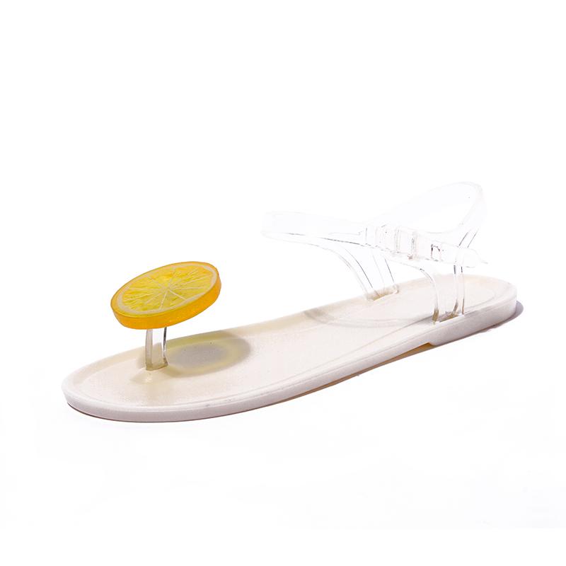 Harga Sandal Summer Musim Panas Sandal Jepit Sandal Pantai Imut Warna Solid Putih Baru