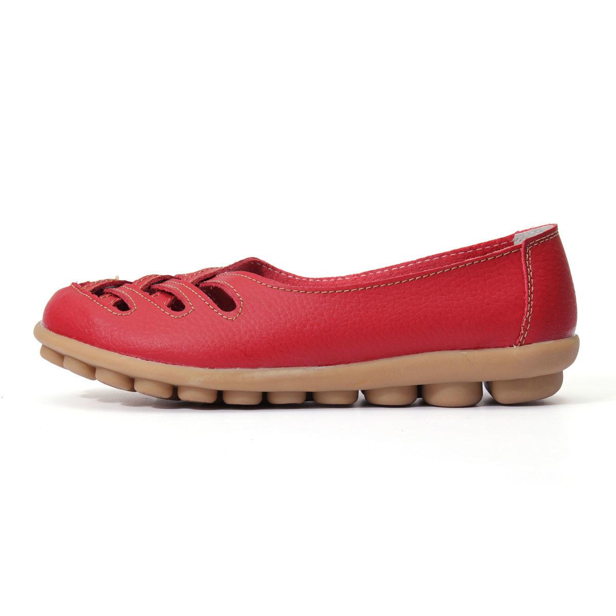 Jual Sandal Wanita Kulit Asli Sepatu Musim Panas Dicungkil Perawat Bekerja Otot Sapi Budak Sepatu Flat Oem Grosir