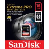 Promo Sandisk 16Gb Class 10 Extreme Pro U3 Sdhc Sd 95Mb Sandisk
