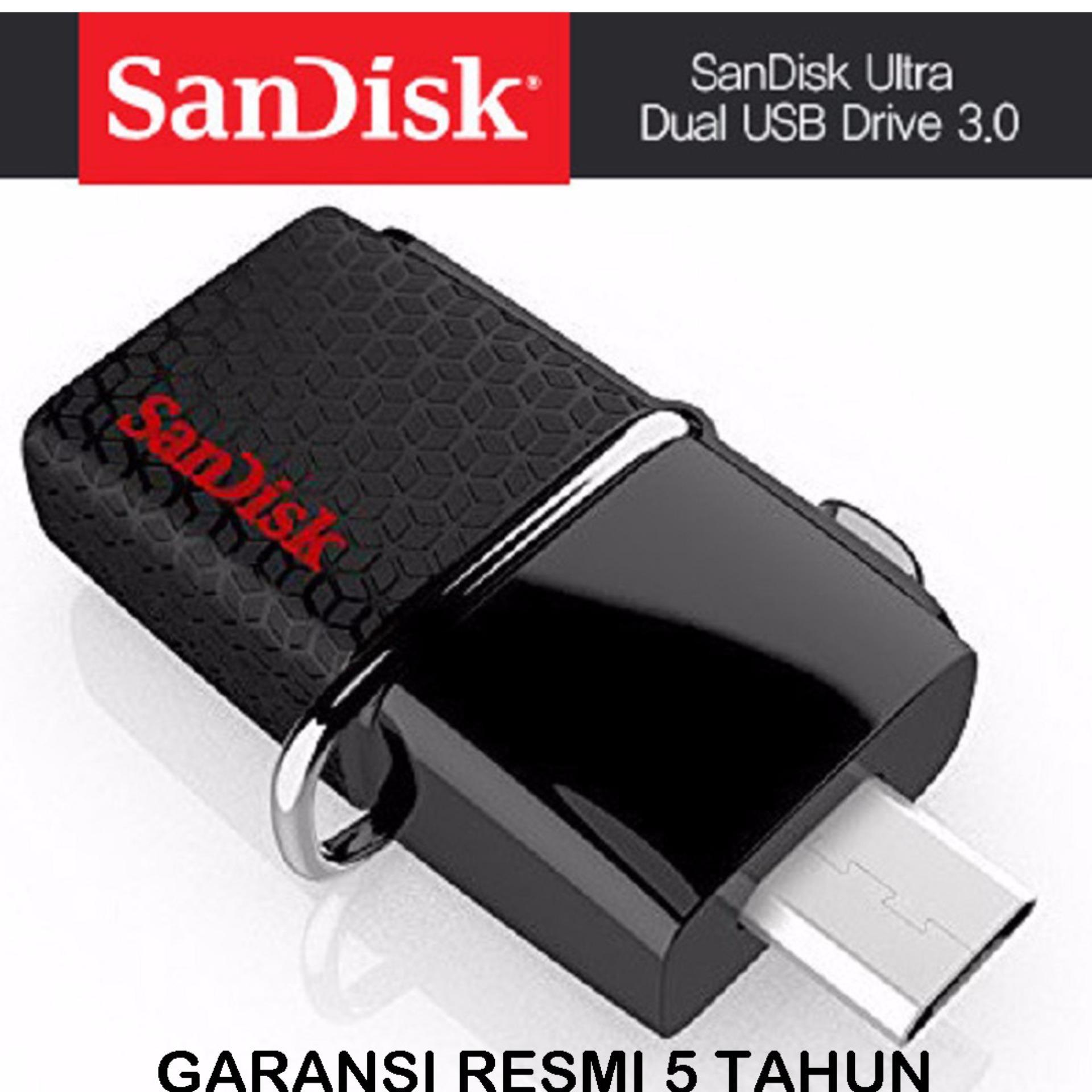 Jual Sandisk 32Gb Otg Ultra Dual Drive Usb 3 Hitam Dki Jakarta