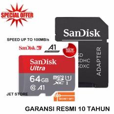 Jual Sandisk 64Gb 100Mbs Ultra Microsdxc A1 With Adapter Termurah