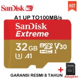 Dapatkan Segera Sandisk Extreme Microsdhc A1 Uhs I U3 Class 10 100Mb S 32Gb 4K Action Cam