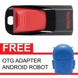 Toko Sandisk Flash Disk Cruzer Edge 16 Gb Gratis Otg Adapter Android Robot Biru Online Terpercaya