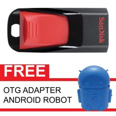 Spek Sandisk Flash Disk Cruzer Edge 16 Gb Gratis Otg Adapter Android Robot Biru