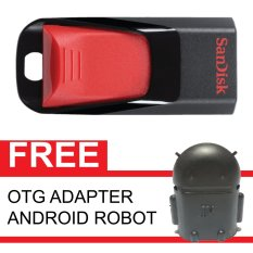 Beli Barang Sandisk Flash Disk Cruzer Edge 16 Gb Gratis Otg Adapter Android Robot Hitam Online