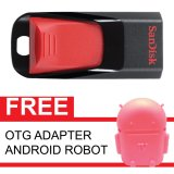 Diskon Sandisk Flash Disk Cruzer Edge 16 Gb Gratis Otg Adapter Android Robot Merah Muda Branded