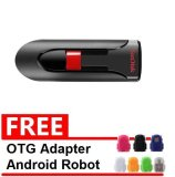 Harga Sandisk Flash Disk Cruzer Glide 32 Gb Gratis Otg Adapter Android Robot Warna Random Terbaik