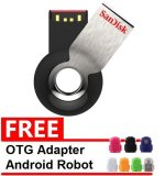 Miliki Segera Sandisk Flash Disk Cruzer Orbit 16 Gb Gratis Otg Adapter Android Robot Warna Random