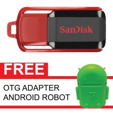 Cara Beli Sandisk Flash Disk Cruzer Switch 32 Gb Gratis Otg Adapter Android Robot Hijau