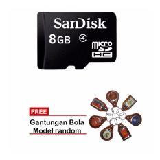 Spek Sandisk Original Memory Card Micro Sd 8 Gb Class4 Sdsdqm 008G Gantungan Bola