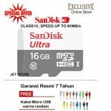 Harga Sandisk Memory Card Microsdhc Class 10 80Mb S 16Gb Kabel Micro Usb Warna Random Satu Set
