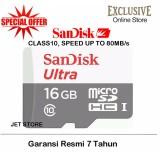 Harga Sandisk Memory Card Microsdhc Uhs I Class 10 16Gb 80Mbs Putih Baru Murah