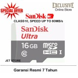 Dapatkan Segera Sandisk Memory Card Microsdhc Uhs I Class 10 16Gb 80Mbs Putih