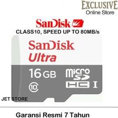 Sandisk ultra Micro SDHC UHS-I Class 10 - 16GB/80Mbs  - Putih