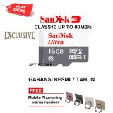 Jual Sandisk Memory Card Ultra Microsdhc Class10 80Mb S 16Gb Iring Mobile Phone Sandisk Branded