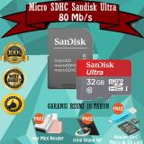 Beli Sandisk Microsdhc 80Mb S 32Gb Class 10 Uhs 1 With Micro Sdhc Sd Card Adapter Gratis Reader 2In1 Otg Mini Iring Stand Hp Di Dki Jakarta
