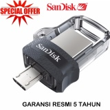 Sandisk Otg M3 16Gb Dual Drive Flash Disk For Android Asli
