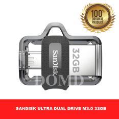 SanDisk OTG Ultra Dual Drive M3.0 32GB USB 3.0 Flashdisk Otg ORIGINAL GARANSI RESMI SANDISK 5 TAHUN