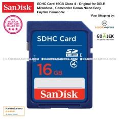 SanDisk SDHC Card 16GB Class 4 Original for DSLR Mirrorless , Camcorder Canon Nikon Sony Fujifilm Panasonic Samsung