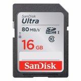 Beli Sandisk Sdhc Ultra Class 10 Uhs 1 Memory Card 16 Gb 80 Mbps Garansi Resmi Sandisk Murah