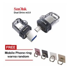 Sandisk Ultra Dual Drive M3 32Gb Flash Drive For Android Smartphones Laptop Iring Mobile Phone Warna Random Sandisk Diskon 50