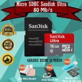 Toko Sandisk Ultra Micro Sdhc 80Mb S 16 Gb Adaptor Gratis Reader 2In 1 Otg Mini Iring Stand Hp Lengkap