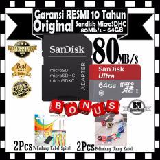 Promo Sandisk Ultra Micro Sdxc 80Mb S 64Gb Class 10 Sd Adapter Gratis 2Pcs Pelindung Kabel Spiral 2Pcs Pelindung Ujung Kabel Sandisk Terbaru