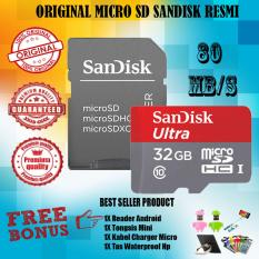 Kualitas Sandisk Ultra Microsdhc 80Mb S 32Gb Class 10 Uhs 1 With Micro Sdhc Sd Card Adapter Gratis Reader Android Tongsis Mini Iring Stand Hp Tas Waterproof Smartphone Sandisk Ultra