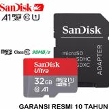 Harga Sandisk Ultra Microsdhc 98Mb S 32Gb A1 Class 10 Uhs 1 With Micro Sdhc Sd Card Adapter Red Grey Sandisk Baru