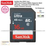 Toko Sandisk Ultra Sdhc Card 16Gb Class 10 Speed 48Mb S Black Original For Dslr Mirrorless Camcorder Canon Nikon Sony Fujifilm Panasonic Samsung Sandisk Online