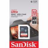 Review Toko Sandisk Ultra Sdhc Uhs 1 Class 10 Memory Card 32 Gb48 Mbps Garansi Resmi
