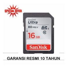 SanDisk Ultra SDHC UHS-I 80MB/s - 16GB