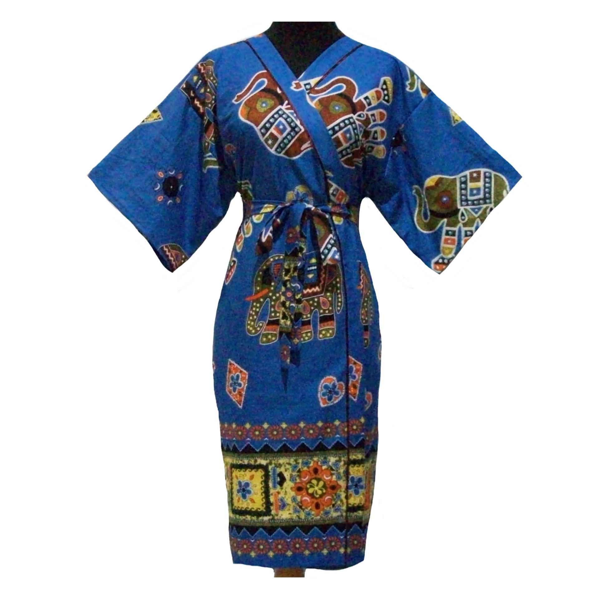Sanny Apparel B 409 Kimono Batik - Biru