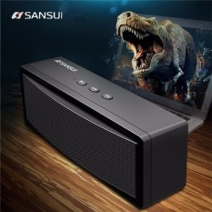 Sansui T18 Nirkabel bluetooth Speaker 1200 MAh Subwoofer Portable Speaker Dual Unit TF Kartu U Disk-Intl