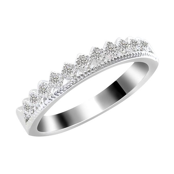 Sanwood® Adapula Pasangan Mahkota Emas Berlian Perak Imitasi Berlapis Mayat