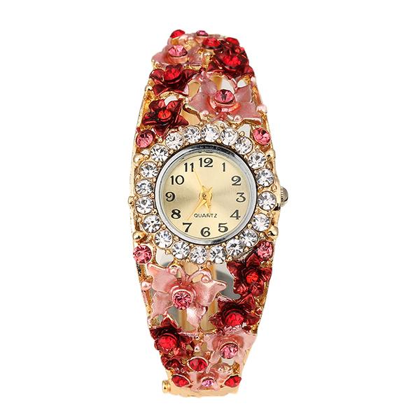 Burmab Wanita Casual Vintage Multilayer Jam Tangan Bungkus Menenun Keling Kulit Gelang Wrist Watch-Intl