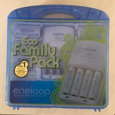 Sanyo Eco Family Pack, Charger + Battery AA, AAA, C, D