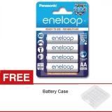 Jual Sanyo Eneloop Baterai Aa 2000 Mah Bp4 4Pcs Free Battery Case Import