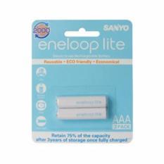 Sanyo Eneloop Lite 2Pcs 600Mah Battery Aaa Rechargeable Pack Baterai Batere Batre 600 Mah Sanyo Diskon 30