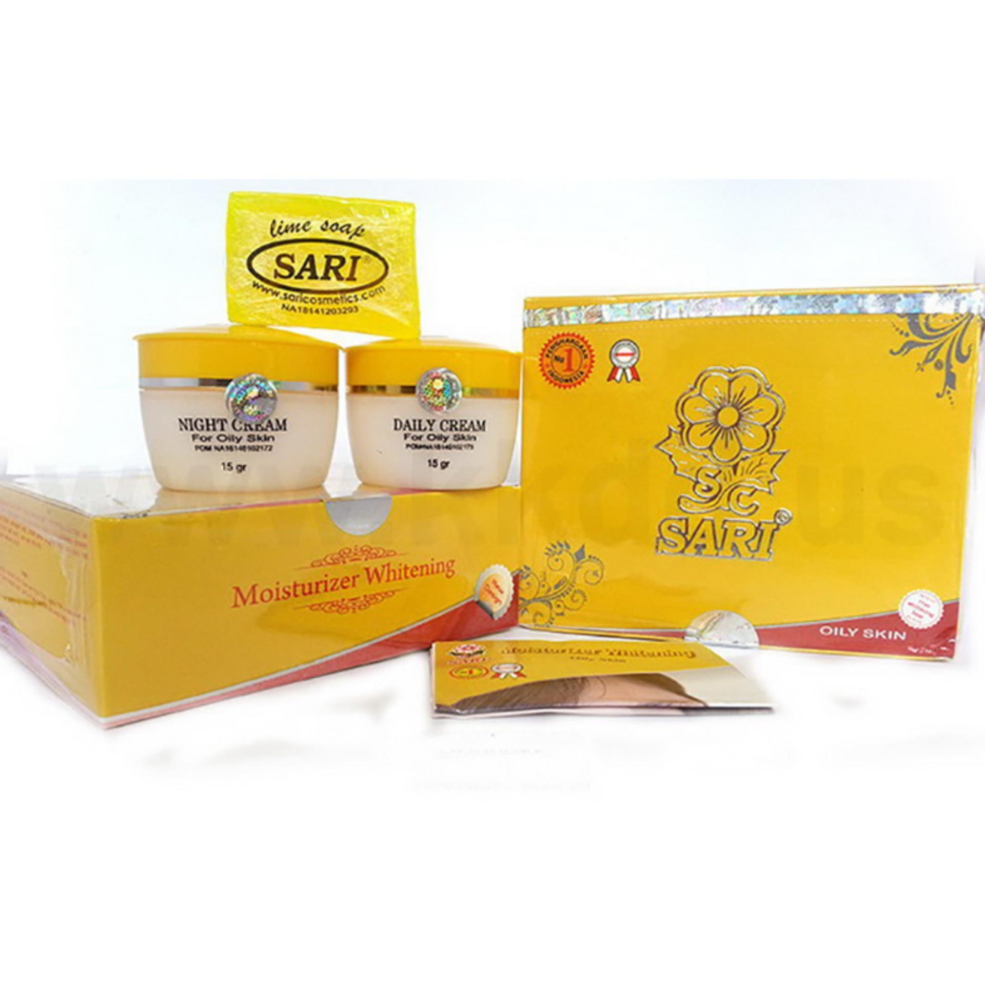 Toko Sari Moisturizer Whitening Cream Kuning Wajah Kulit Oily Normal Berminyak Pelembab Pemutih Bpom Sari Dki Jakarta