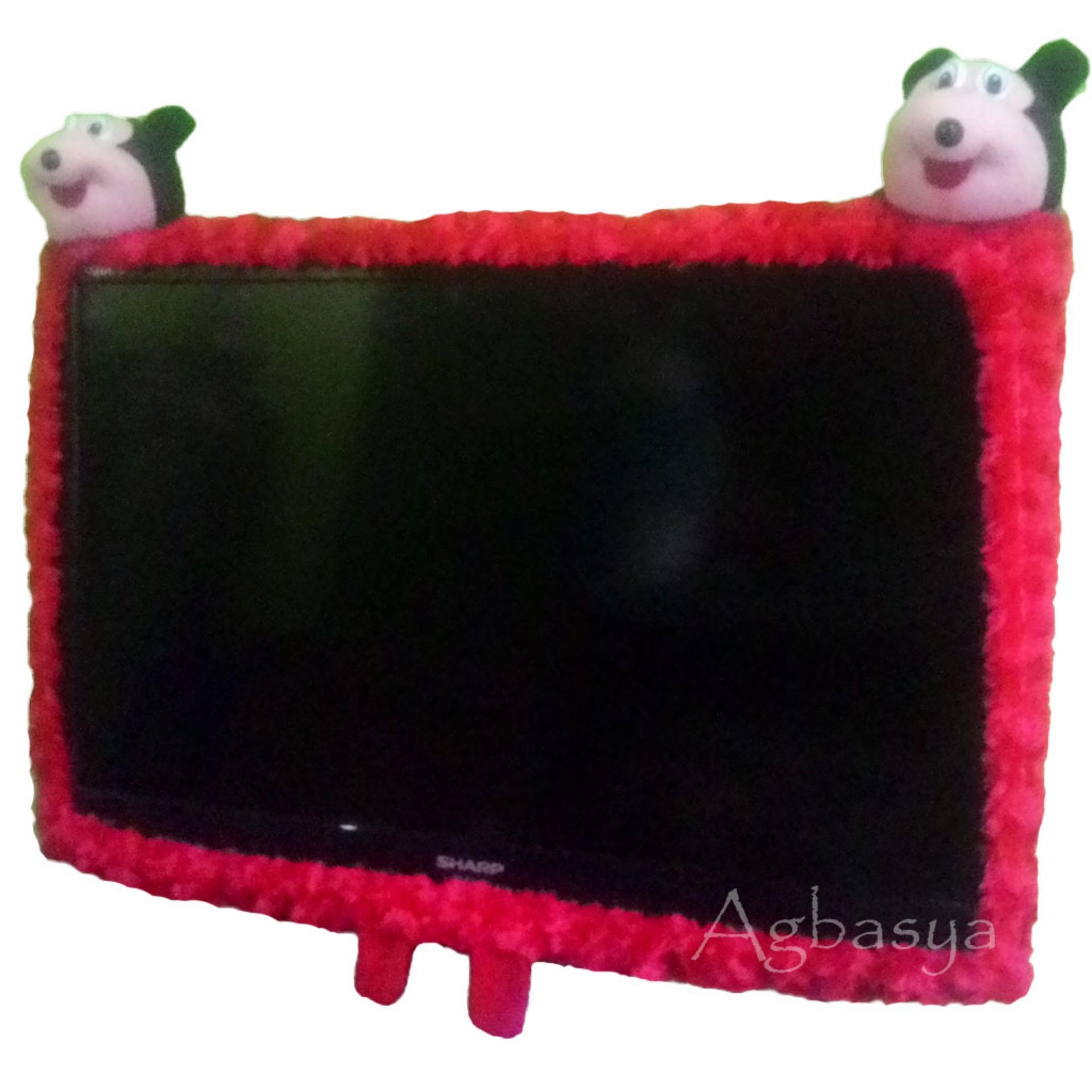 Sarung / Cover / Bando TV LED Model 2 Kepala Boneka Karakter