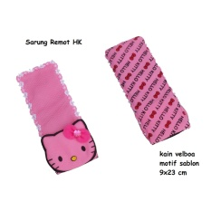 Hello Kitty Karakter Sarung Remot TV Motif Sablon
