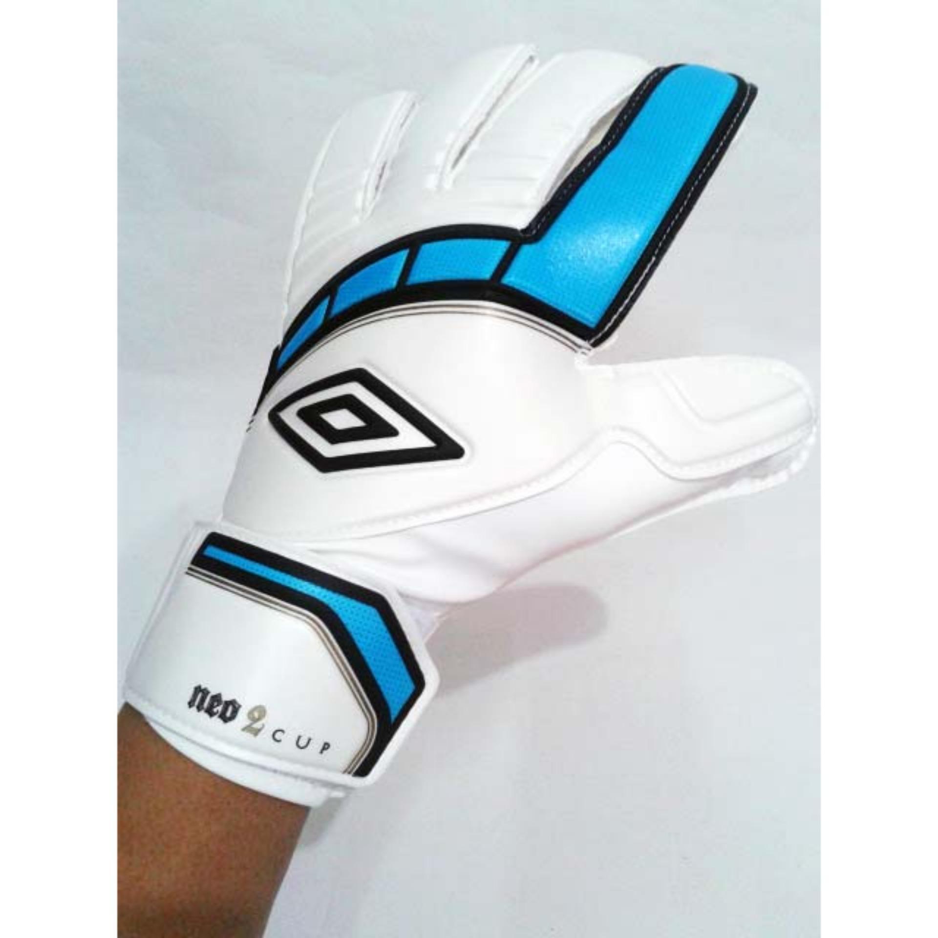 Sarung Tangan Kiper Neo Cup Glove White Cyan Blue